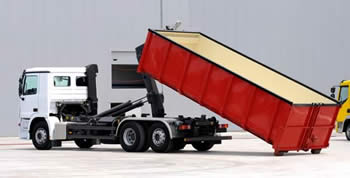 truck for dumpster rentals in San Antonio, Texas